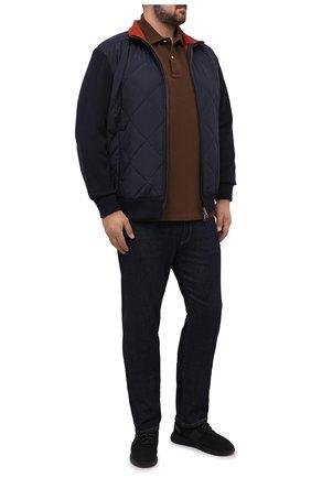 Мужское хлопковое поло POLO RALPH LAUREN коричневого цвета, арт. 711680792/PRL BS | Фото 2