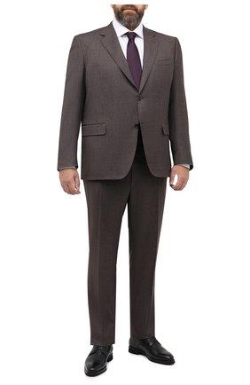 Мужской шерстяной костюм CANALI коричневого цвета, арт. 11280/10/AA02161/60-64 | Фото 1