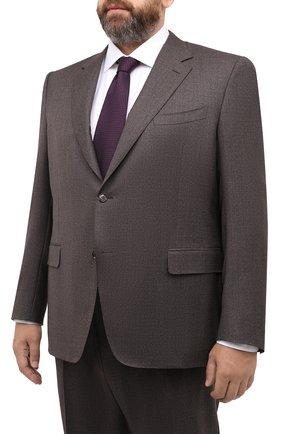 Мужской шерстяной костюм CANALI коричневого цвета, арт. 11280/10/AA02161/60-64 | Фото 2