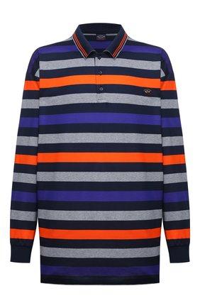 Мужское хлопковое поло PAUL&SHARK разноцветного цвета, арт. A20P1746/C00/3XL-6XL | Фото 1