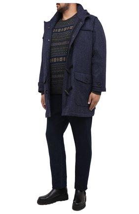 Мужской шерстяное пальто PAUL&SHARK темно-синего цвета, арт. I20P2515/HU9/3XL-6XL | Фото 2