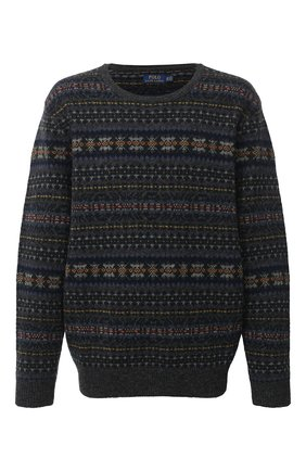 Мужской шерстяной свитер POLO RALPH LAUREN серого цвета, арт. 711814717/PRL BS | Фото 1