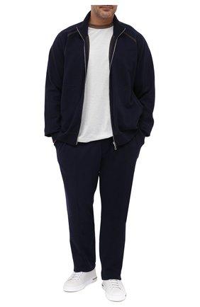 Мужской кардиган из хлопка и кашемира CORTIGIANI темно-синего цвета, арт. 914612/0000/60-70 | Фото 2
