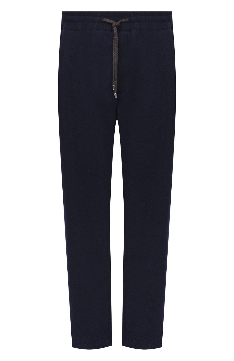 Мужские брюки из хлопка и кашемира CORTIGIANI темно-синего цвета, арт. 914613/0000/60-70 | Фото 1 (Big sizes: Big Sizes; Мужское Кросс-КТ: Брюки-трикотаж; Длина (брюки, джинсы): Стандартные; Случай: Повседневный; Материал внешний: Хлопок; Стили: Спорт-шик)