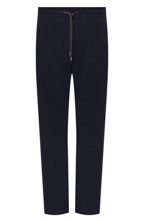 Мужские брюки из хлопка и кашемира CORTIGIANI темно-синего цвета, арт. 914613/0000/60-70 | Фото 1