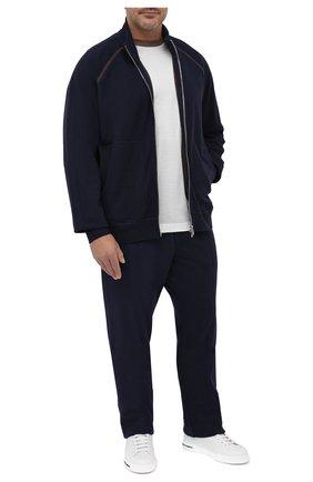 Мужские брюки из хлопка и кашемира CORTIGIANI темно-синего цвета, арт. 914613/0000/60-70 | Фото 2