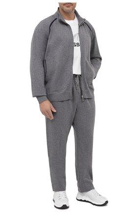 Мужские брюки из хлопка и кашемира CORTIGIANI серого цвета, арт. 914613/0000/60-70 | Фото 2