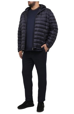 Мужская футболка из хлопка и шелка CORTIGIANI темно-синего цвета, арт. 916610/0000/60-70 | Фото 2