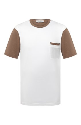 Мужская футболка из хлопка и шелка CORTIGIANI белого цвета, арт. 916610/0000/60-70 | Фото 1
