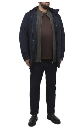 Мужская футболка из хлопка и шелка CORTIGIANI коричневого цвета, арт. 916610/0000/60-70 | Фото 2