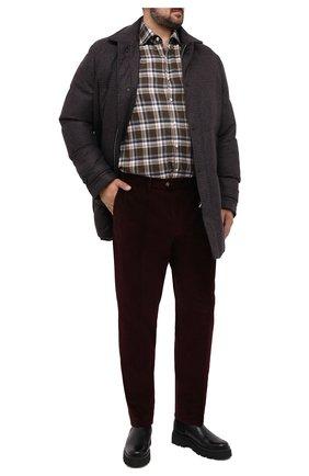 Мужская шерстяной пуховик CORTIGIANI коричневого цвета, арт. 918622/0000/60-70 | Фото 2