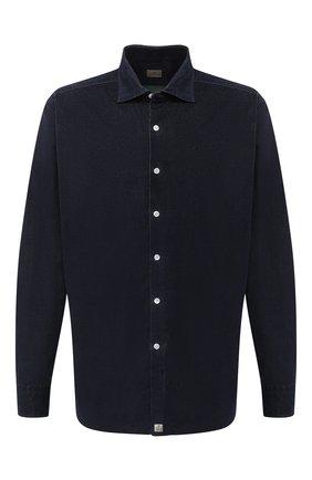 Мужская хлопковая рубашка SONRISA темно-синего цвета, арт. IL7/VE/LV1112   Фото 1