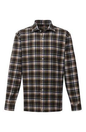 Мужская хлопковая рубашка SONRISA коричневого цвета, арт. IL7/L1096/47-51 | Фото 1