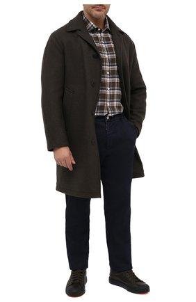 Мужская хлопковая рубашка SONRISA коричневого цвета, арт. IL7/L1096/47-51 | Фото 2