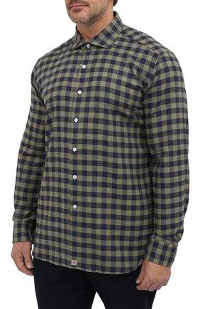 Мужская хлопковая рубашка SONRISA зеленого цвета, арт. IL7/L1088/47-51   Фото 3