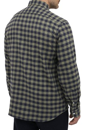 Мужская хлопковая рубашка SONRISA зеленого цвета, арт. IL7/L1088/47-51   Фото 4