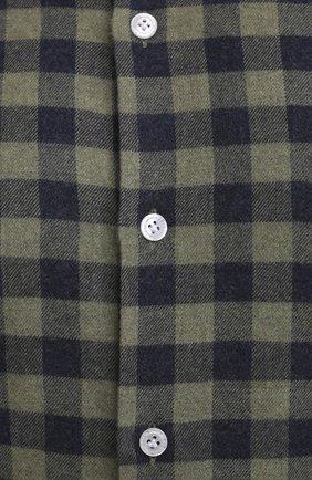 Мужская хлопковая рубашка SONRISA зеленого цвета, арт. IL7/L1088/47-51   Фото 5