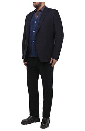 Мужская хлопковая рубашка SONRISA коричневого цвета, арт. IL7/L1088/47-51 | Фото 2