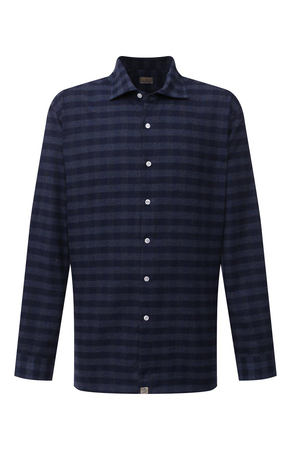 Мужская хлопковая рубашка SONRISA темно-синего цвета, арт. IL7/L1088/47-51 | Фото 1