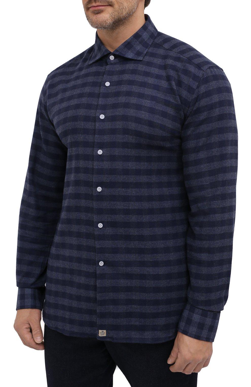 Мужская хлопковая рубашка SONRISA темно-синего цвета, арт. IL7/L1088/47-51 | Фото 3