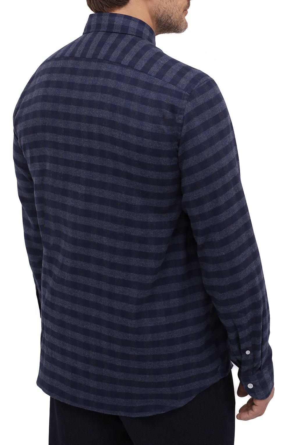 Мужская хлопковая рубашка SONRISA темно-синего цвета, арт. IL7/L1088/47-51 | Фото 4