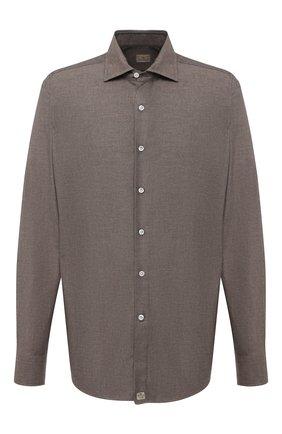 Мужская хлопковая рубашка SONRISA коричневого цвета, арт. IL7/L1080/47-51 | Фото 1