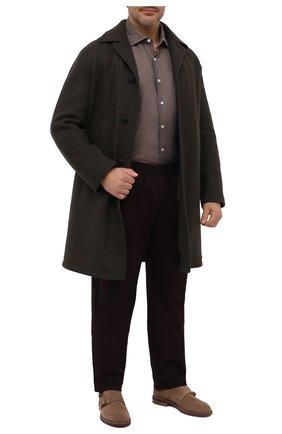 Мужская хлопковая рубашка SONRISA коричневого цвета, арт. IL7/L1080/47-51 | Фото 2