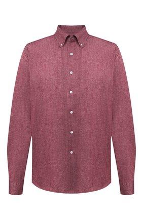 Мужская хлопковая рубашка SONRISA бордового цвета, арт. IFJ7167/J134/47-51 | Фото 1