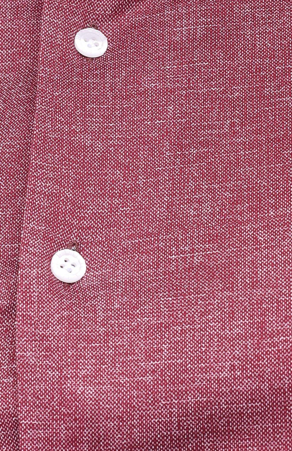 Мужская хлопковая рубашка SONRISA бордового цвета, арт. IFJ7167/J134/47-51   Фото 5 (Big sizes: Big Sizes; Рукава: Длинные; Случай: Повседневный; Длина (для топов): Стандартные; Рубашки М: Slim Fit; Материал внешний: Хлопок; Стили: Кэжуэл)
