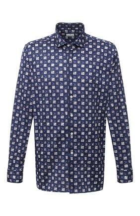 Мужская хлопковая рубашка SONRISA темно-синего цвета, арт. IFJ15/J821/47-51 | Фото 1