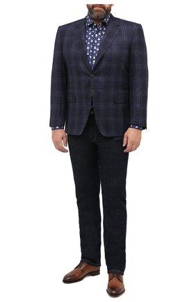 Мужская хлопковая рубашка SONRISA темно-синего цвета, арт. IFJ15/J821/47-51 | Фото 2