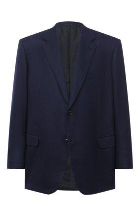 Мужской шерстяной пиджак BRIONI темно-синего цвета, арт. RGH00Z/09A4P/PARLAMENT0 | Фото 1