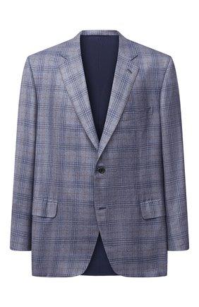 Мужской пиджак из шерсти и кашемира BRIONI голубого цвета, арт. RGH00V/09413/PARLAMENT0 | Фото 1