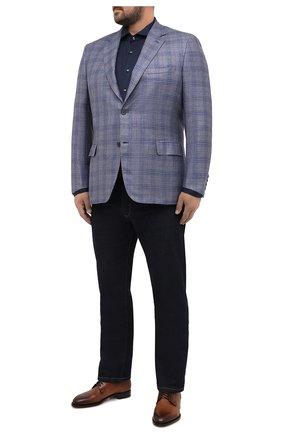 Мужской пиджак из шерсти и кашемира BRIONI голубого цвета, арт. RGH00V/09413/PARLAMENT0 | Фото 2