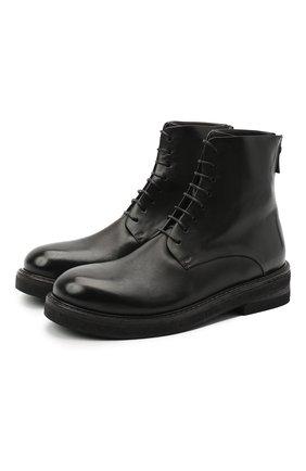 Мужские кожаные ботинки MARSELL черного цвета, арт. MM2961/PELLE VITELL0 | Фото 1