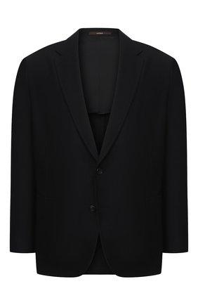 Мужской шерстяной пиджак WINDSOR черного цвета, арт. 13 GAR0N-U 10010202/60-66 | Фото 1