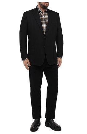 Мужской шерстяной пиджак WINDSOR черного цвета, арт. 13 GAR0N-U 10010202/60-66 | Фото 2