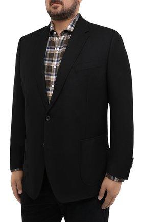 Мужской шерстяной пиджак WINDSOR черного цвета, арт. 13 GAR0N-U 10010202/60-66 | Фото 3