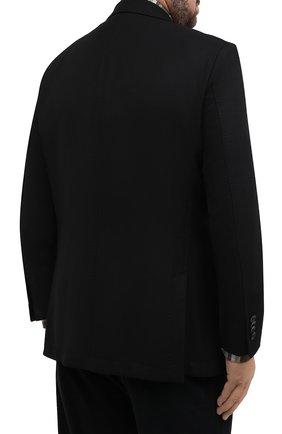Мужской шерстяной пиджак WINDSOR черного цвета, арт. 13 GAR0N-U 10010202/60-66 | Фото 4