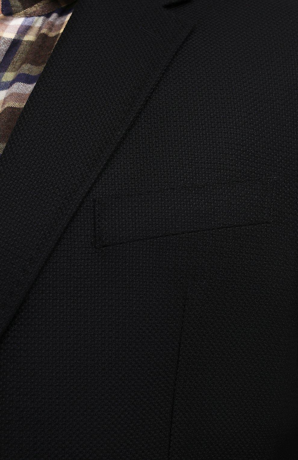 Мужской шерстяной пиджак WINDSOR черного цвета, арт. 13 GAR0N-U 10010202/60-66 | Фото 5