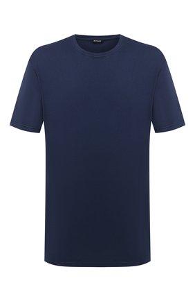 Мужская футболка из хлопка и кашемира KITON синего цвета, арт. UMK0020/4XL-8XL | Фото 1