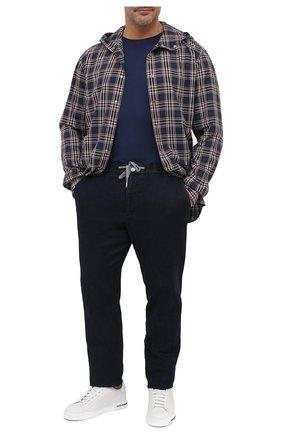 Мужская футболка из хлопка и кашемира KITON синего цвета, арт. UMK0020/4XL-8XL | Фото 2
