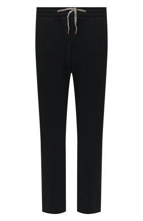 Мужские брюки MARCO PESCAROLO черного цвета, арт. CARACCI0L0/4299 | Фото 1 (Материал внешний: Растительное волокно; Длина (брюки, джинсы): Стандартные; Big sizes: Big Sizes; Мужское Кросс-КТ: Брюки-трикотаж; Случай: Повседневный; Стили: Спорт-шик)