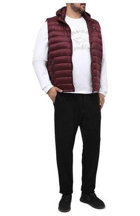 Мужские брюки MARCO PESCAROLO черного цвета, арт. CARACCI0L0/4299 | Фото 2 (Материал внешний: Растительное волокно; Длина (брюки, джинсы): Стандартные; Big sizes: Big Sizes; Мужское Кросс-КТ: Брюки-трикотаж; Случай: Повседневный; Стили: Спорт-шик)