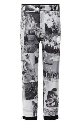 Мужские брюки MONCLER черно-белого цвета, арт. F2-091-2A739-00-54APZ | Фото 1
