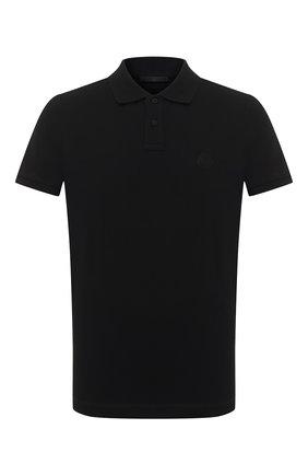 Мужское хлопковое поло MONCLER черного цвета, арт. F2-091-8A716-10-84556 | Фото 1