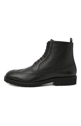 Мужские кожаные ботинки BOSS черного цвета, арт. 50439770   Фото 3