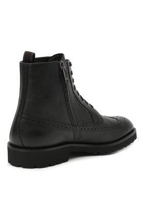 Мужские кожаные ботинки BOSS черного цвета, арт. 50439770 | Фото 4