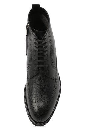 Мужские кожаные ботинки BOSS черного цвета, арт. 50439770   Фото 5
