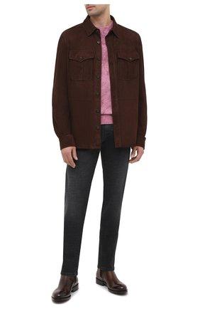 Мужская замшевая рубашка RALPH LAUREN темно-коричневого цвета, арт. 790654923 | Фото 2